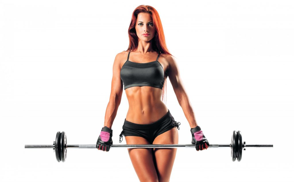Sexy Beautiful Fitness Girl - red hear